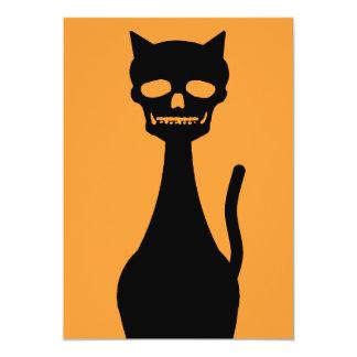 "Skull Kitty Invite 5"" X 7"" Invitation Card"