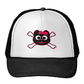 Skull Kitty Pink Trucker Hat