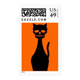 Skull Kitty Stamp