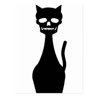 Skull Kitty Postcard