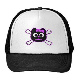 Skull Kitty purple Trucker Hat