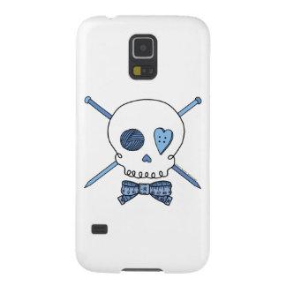 Skull & Knitting Needles (Blue) Cases For Galaxy S5