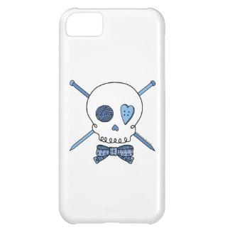 Skull & Knitting Needles (Blue) iPhone 5C Cases