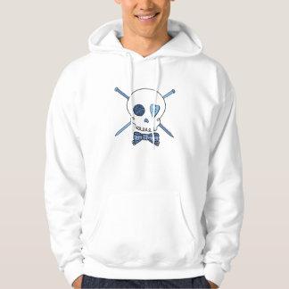 Skull & Knitting Needles (Blue) Hoodie