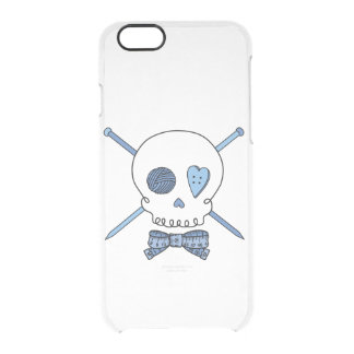 Skull & Knitting Needles (Bow Tie) Uncommon Clearly™ Deflector iPhone 6 Case