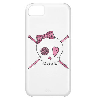 Skull & Knitting Needles (Pink) iPhone 5C Covers