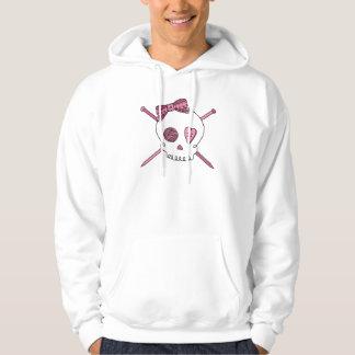 Skull & Knitting Needles (Pink) Hoodie