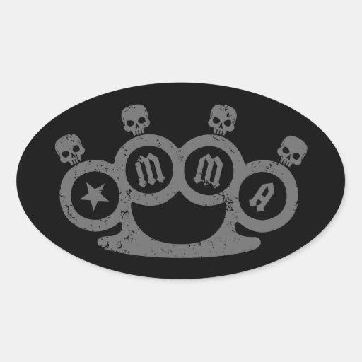 Skull Knuckles Stickers