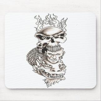 skull koi demon mouse pad