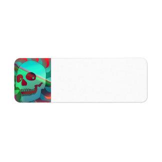 Skull Return Address Label