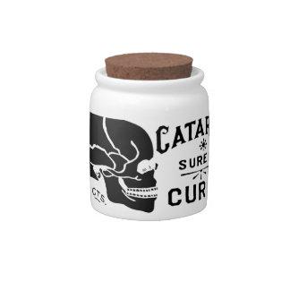 Skull Label Candy Jar