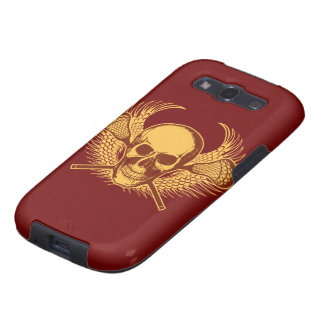 Skull Lacrosse cover Samsung Galaxy SIII Case