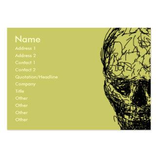 Skull. Large Business Card