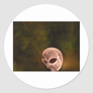skull_lg classic round sticker