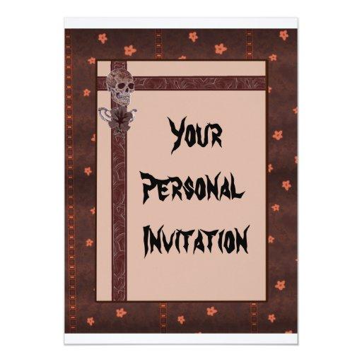 """Skull Lily 5"""" X 7"""" Invitation Card"""