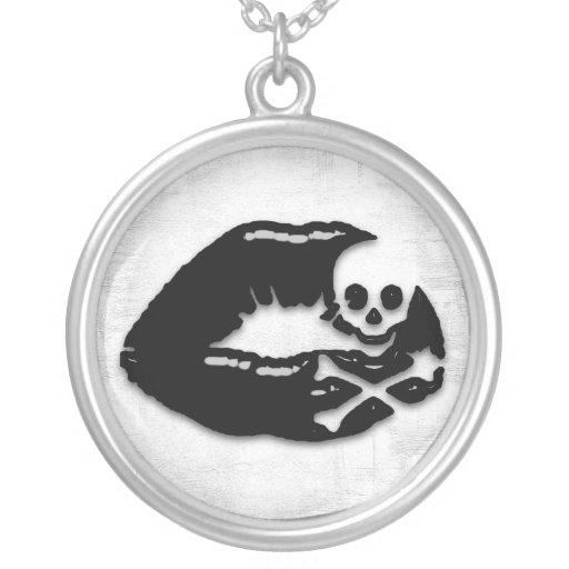 Skull Lips Necklace