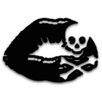 skull, lips, black, emo, teens, skulls, photo, sculpture, children, Photo Sculpture with custom graphic design