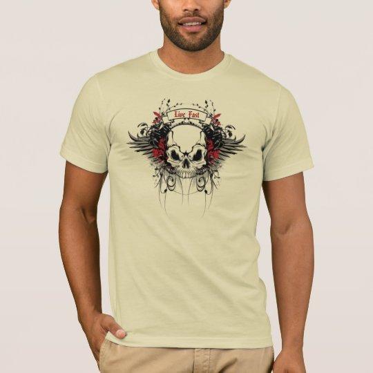 "Skull ""Live Fast"" Shirt"