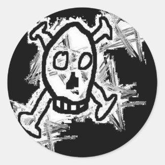 Skull Logo Round Stickers
