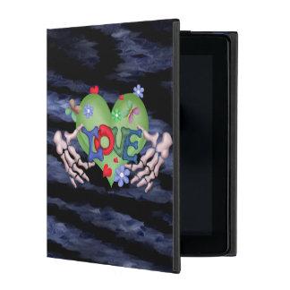SKULL LOVE BLEU CUTE iPad 2/3/4 iPad Covers