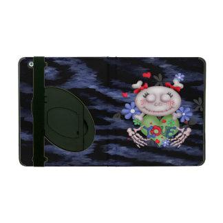 SKULL LOVE BLEU CUTE  iPad 2/3/4  Kickstand 2 iPad Case