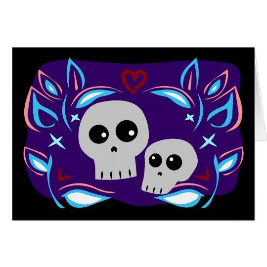 Skull Love Card