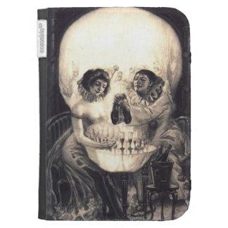 Skull Love, Optical Illusion Amazon Kindle Folio Kindle 3 Case