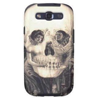 Skull Love Optical Illusion Samsung Galaxy S3 Case