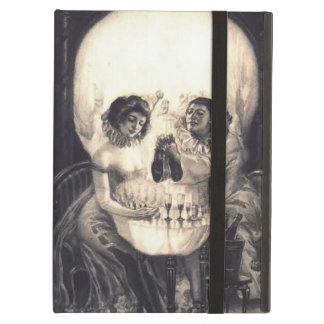 Skull Love Retro Optical Illusion iPad 2/3/4 Folio Case For iPad Air