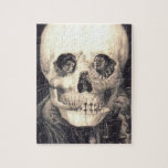 "Skull Love Retro Optical Illusion Jigsaw Puzzle<br><div class=""desc"">VivaViictorian!</div>"