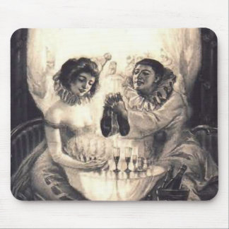 Skull Love Retro Optical Illusion Mouse Pad