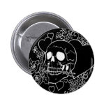 Skull Love - Skulls, Roses and Hearts by Al Rio 2 Inch Round Button
