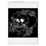 Skull Love - Skulls, Roses and Hearts by Al Rio Greeting Card