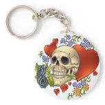 Skull Love - Skulls, Roses and Hearts by Al Rio Keychains