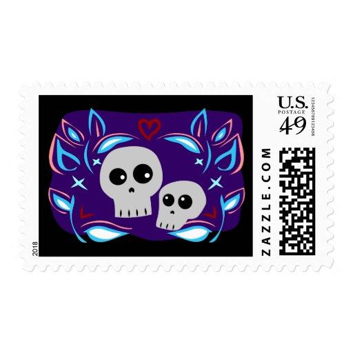 Skull Love Stamp
