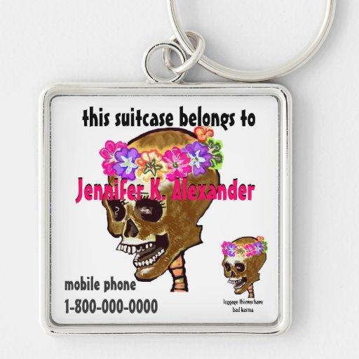 Skull luggage bag I.D. tag Keychain
