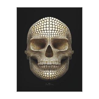 Skull Made of Circles Canvas Print