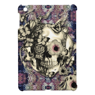 Skull made of poppies and butterflies iPad mini cases