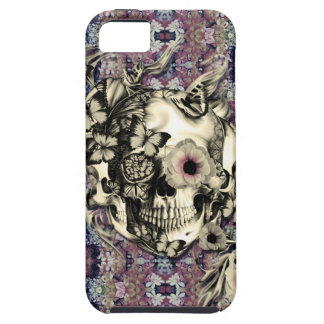 Skull made of poppies and butterflies iPhone 5 covers