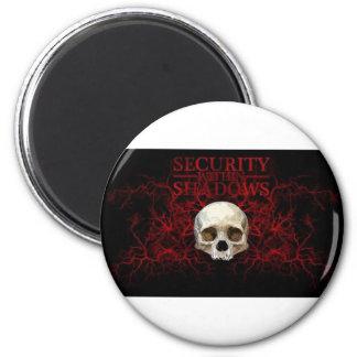 skull 2 inch round magnet