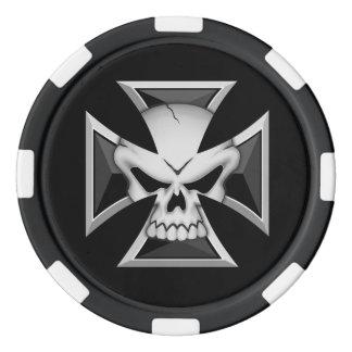 Skull Maltese Poker Chips
