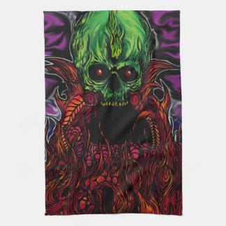 skull mantle kitchen towel