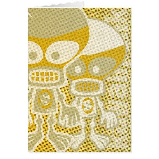 Skull Mascot Greeting Card