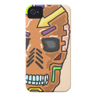 Skull Mask Painted Sketch iPhone 4 Case