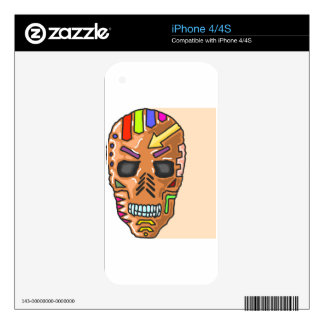 Skull Mask Painted Sketch Skin For iPhone 4S