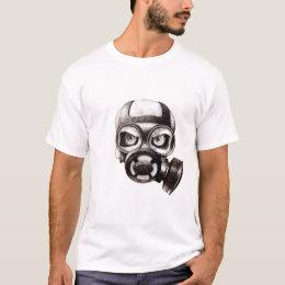 Skull Mask white t-shirt