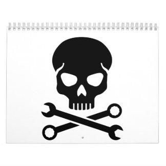 Skull mechanic calendar