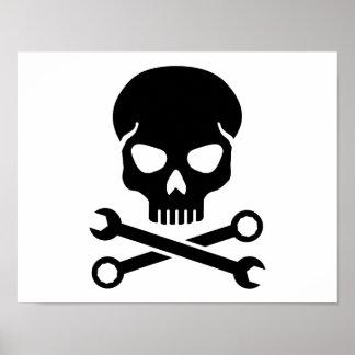 Skull mechanic poster
