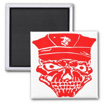 Skull & Military Cover  FB.com/USAPatriotGraphics Magnet