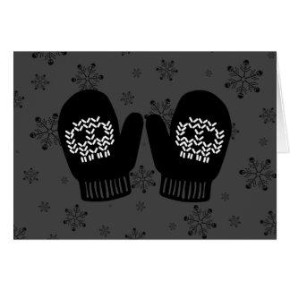 Skull Mittens Card